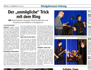 2011-10-18-koenigsbrunner-zeitung-alexander-merk-theater-zauberer