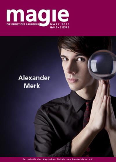 """Alexander Merk ist auf dem Cover der """"Magie"""", der Zeitschrift des Magischen Zirkels von Deutschland"""