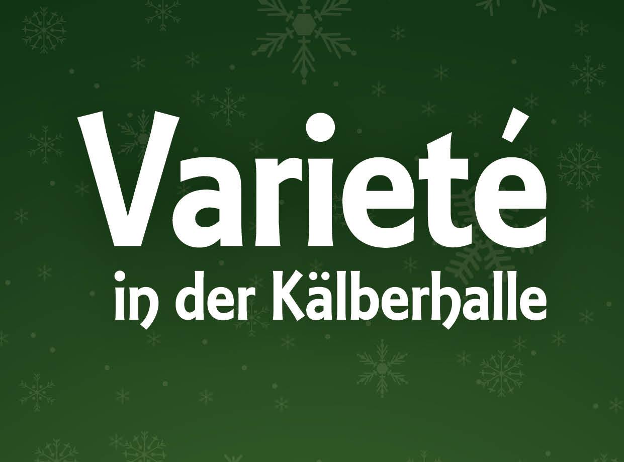 Alexander Merk präsentiert das Varieté ind er Kälberhalle Augsburg