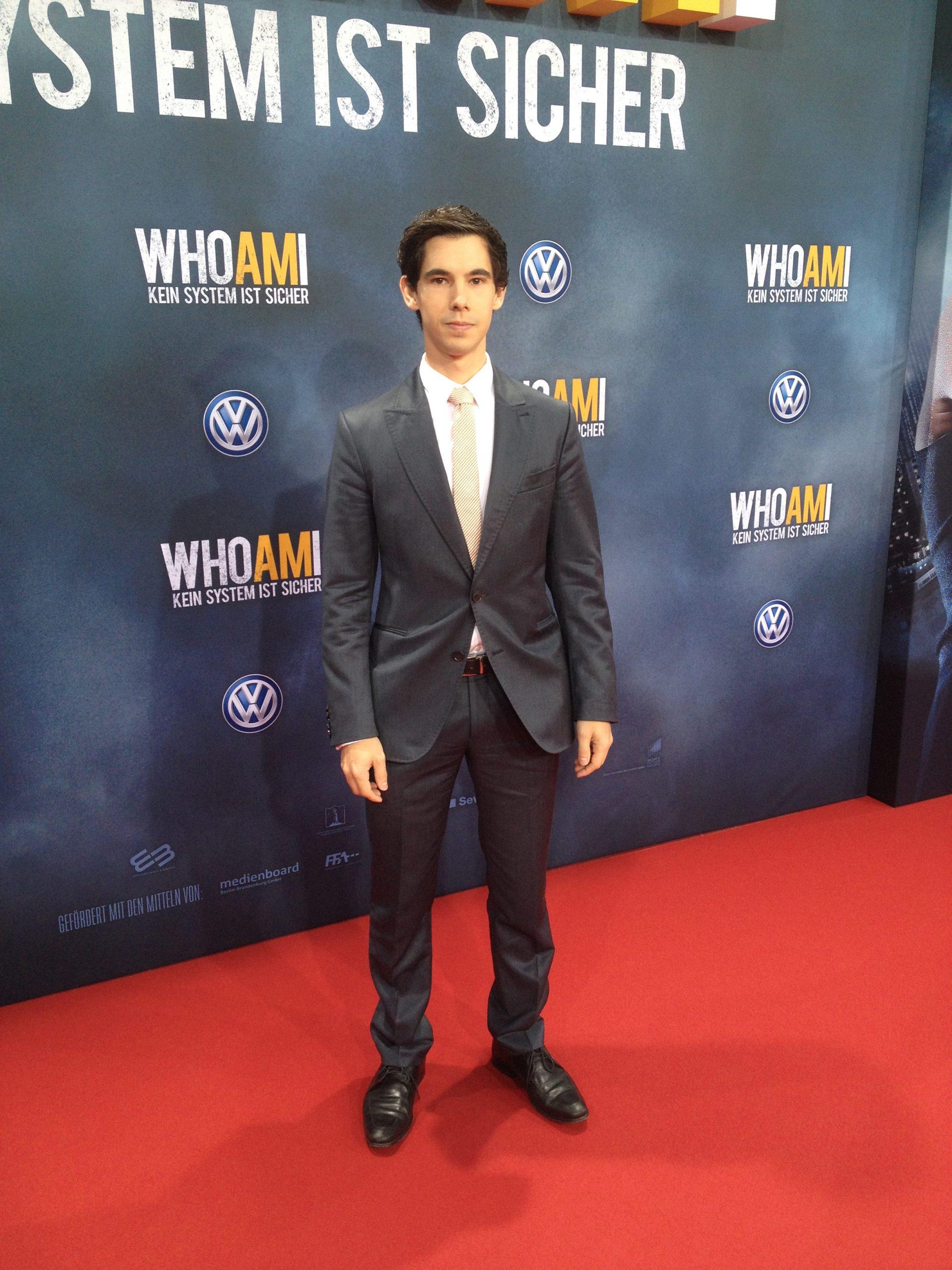 Alexander Merk auf dem Roten Teppich zur Filmpremiere Who am I in Berlin